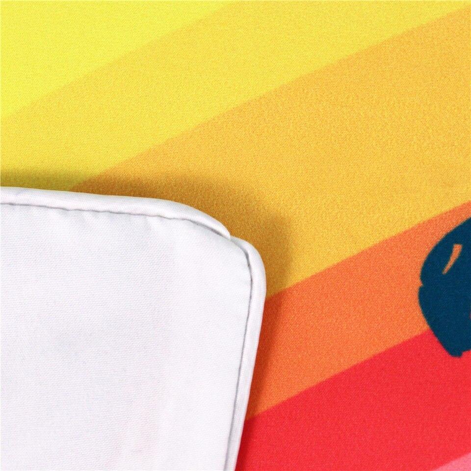 Image 3 - Набор постельного белья с радужным единорогом «верят чудеса», Одноместный Комплект постельного белья с изображением королевы и королевского размера, пододеяльник для детей, девочек, 3 шт.-in Наборы постельного белья from Дом и животные