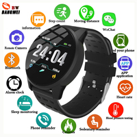BANGWEI 2019 New Smart health watch Blood Pressure Heart Rate Sport Mode Smart Watch Men Women fitness watch waterproof clock