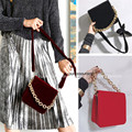 Designer Vintage Velvet Chunky chain Runway Bag Purse Celebrity love IT BAG