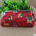 XIYUAN BRAND fashion Korea Creative Canvas Coin Purse wallet Owl cloth bag bolsa women for cellphone shopping and travel