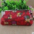 XIYUAN MARCA de moda de Corea Lienzo Creativo Monedero monedero bolsa de tela Búho mujeres bolsa para el teléfono móvil de compras y viajes