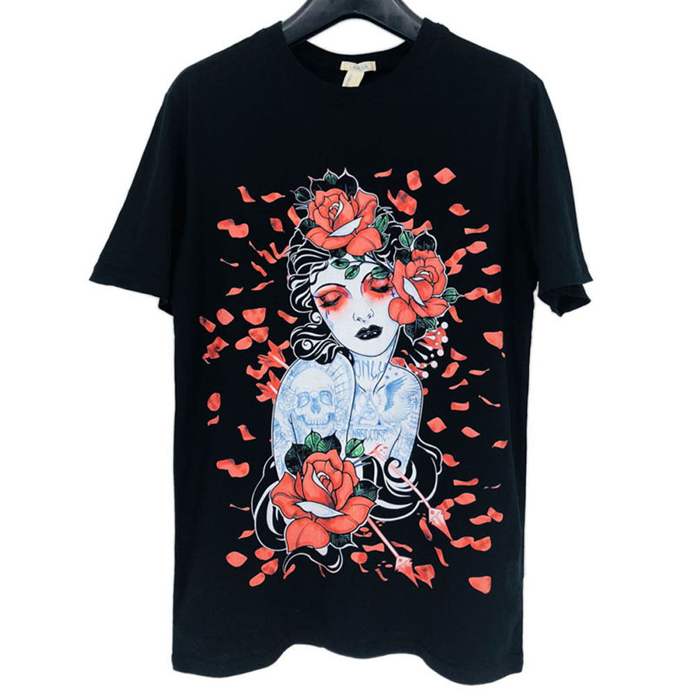 LAUKEXIN USA Big and Tall SIZE Japanese Beautiful Floral Women Girl Fashion  Printed T Shirt Men Women Summer Brand Top Clothing f7aa8382b0ab