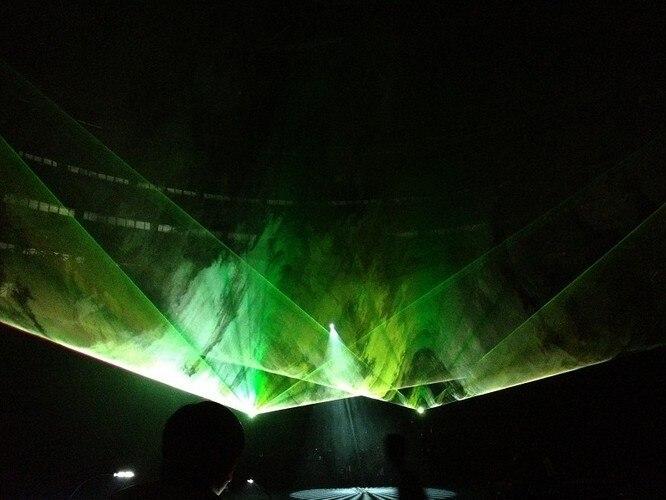 Flightcase + Big power Multi kleur RGB Laser Projector 15 W Podium lichten 40 k X/Y flips power knoppen stage light disco event ILDA - 6