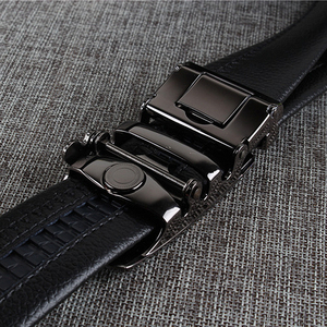 Image 5 - [DWTS] Mens leather belt buckle personality automatic belts leisure fashion pure bovine leather pants waistband free shipping