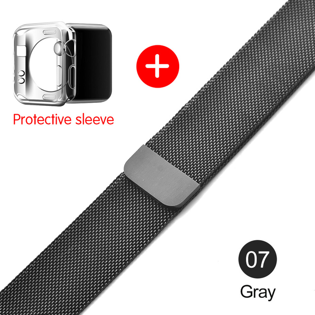 Milanese Loop For Apple Watch band strap 42mm/38mm iwatch4/3/2/1Stainless Steel Link Bracelet wrist watchband magnetic buckle 5