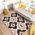 Черный и оранжевый геометрический узор ковер 3D коврики с принтом и ковры журнальный столик для гостиной коврик для йоги диван Противосколь...