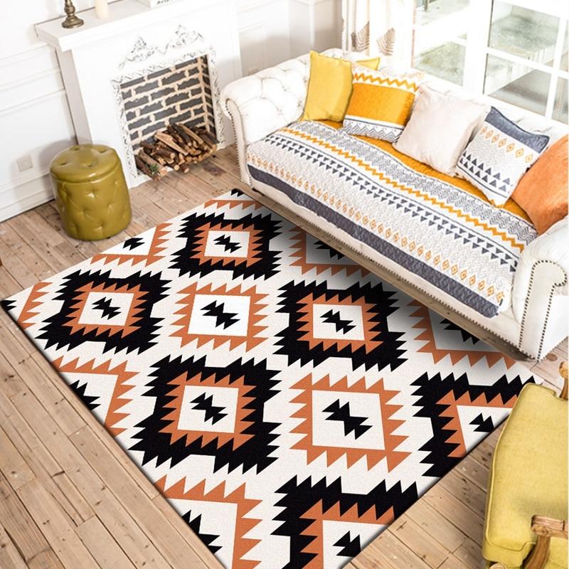 Geometric Pattern Carpet Printed