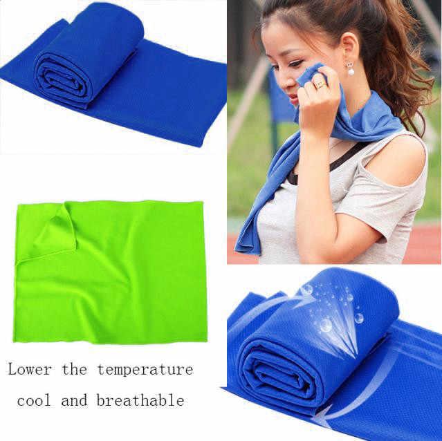 Oddychające sport potu ręcznik do twarzy mrożona Fitness Dry ręcznik chłodzący do siłowni suszenia wielokrotnego użytku trwałe błyskawiczne plaży zimne ręczniki #18