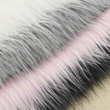 50x80 см искусственный Лисий мех длинный ворс одежда плюшевая ткань для рукоделия шитье домашнее украшение одежды женское платье сумка стеганая ткань