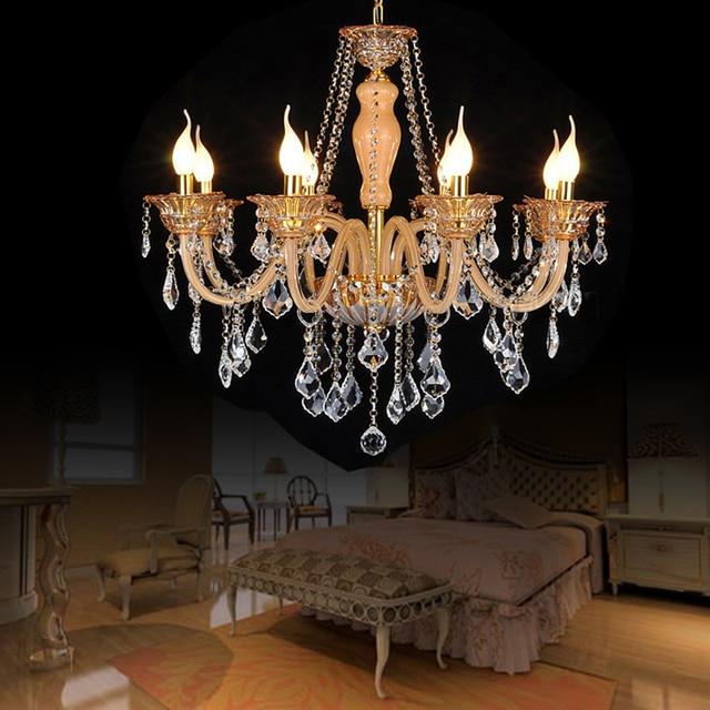 Ambre couleur lustre chambre moderne lustre en cristal clairage 8 feux de luminaires en cristal couleur.jpg 640x640 5 Élégant Lustre Chambre Moderne Hiw6
