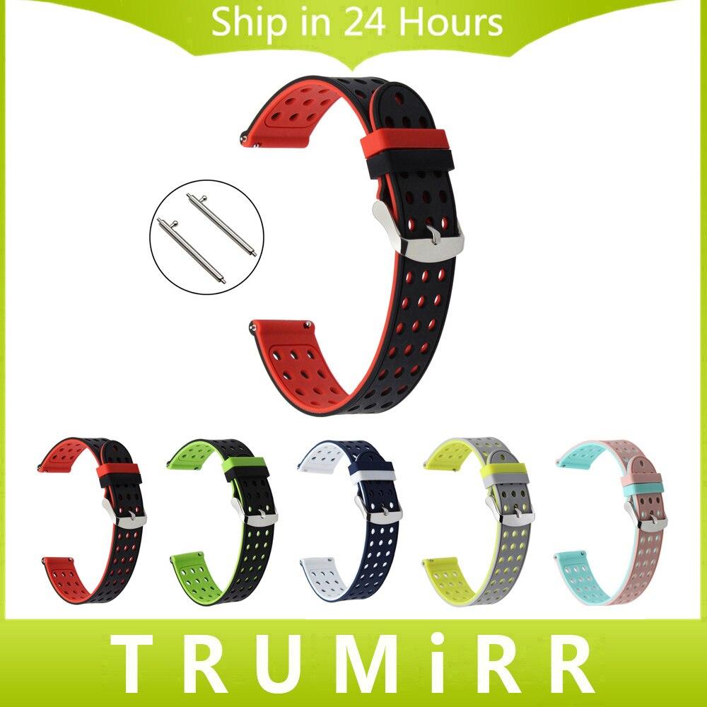 Libération rapide En Caoutchouc de Silicone Montre Bracelet Bande pour Luminox TAG Heuer Omega Cartier 17mm 18mm 19mm 20mm 21mm 22mm 23mm 24mm