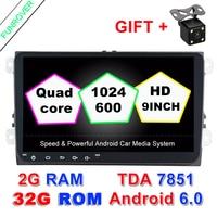 Android 6 0 2 Din Car Radio Dvd Gps Multimedia DVD Headunit Player 2G RAM For