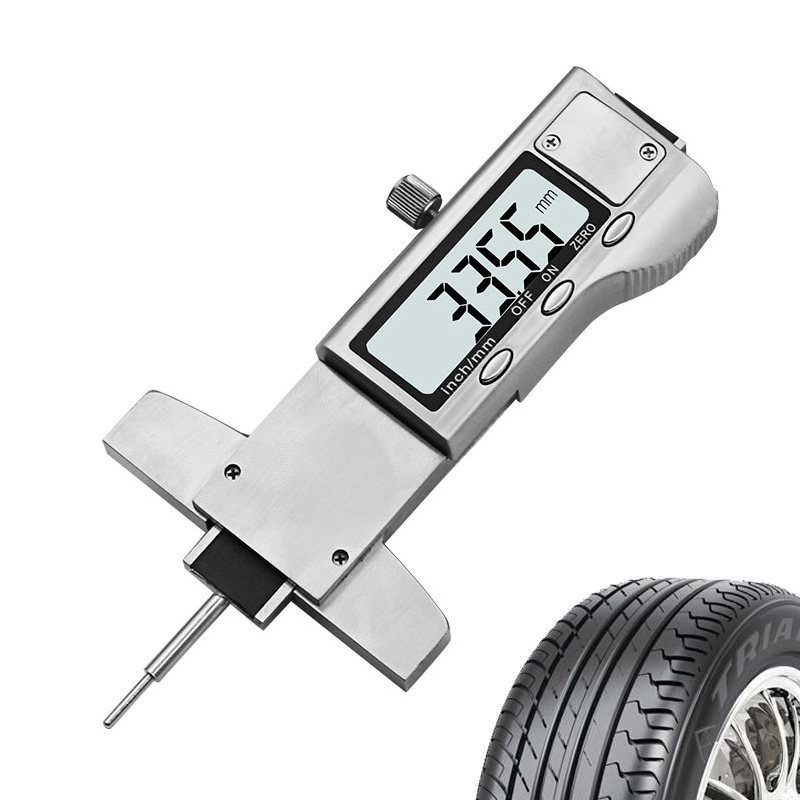 Digital Tire Tire Tread Depth Tester Gauge 0 25.4mm Measurer Tool Caliper LCD Display tpms Tire Monitoring System for Motorbike