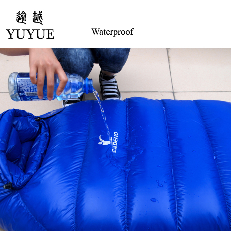 2000g Adult Mummy Sleeping Bag Down Winter For Camping Equipment Tent Waterproof Teaproof Nylon Sleeping Bags For Lovers Air Bed 2