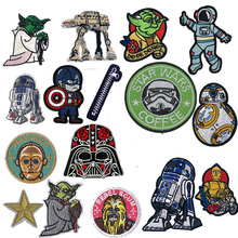 New Arrival Character Embroidered Patches Robot Iron on Zipper Parches Patch Yoda Storm Clothes Badge Decal T-shits Accessory