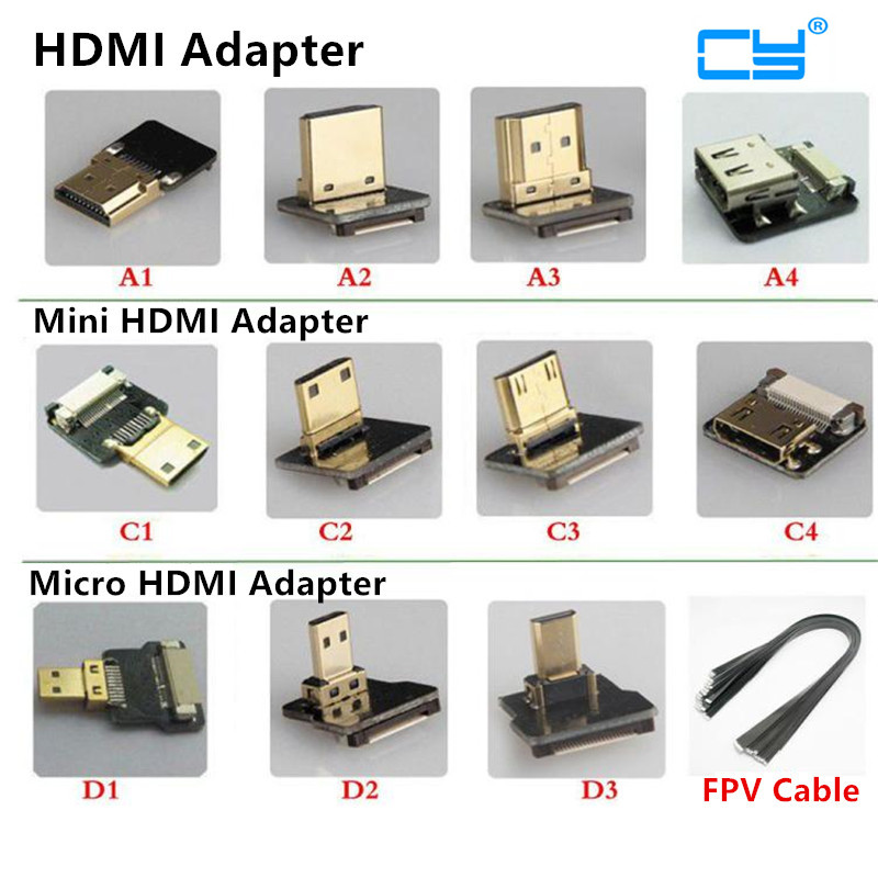 Devoted Fpv Micro Hdmi Mini Hdmi 90 Degree Adapter 5cm-100cm Fpc Ribbon Flat Hdmi Cable Pitch 20pin Plug Connector Accessories & Parts