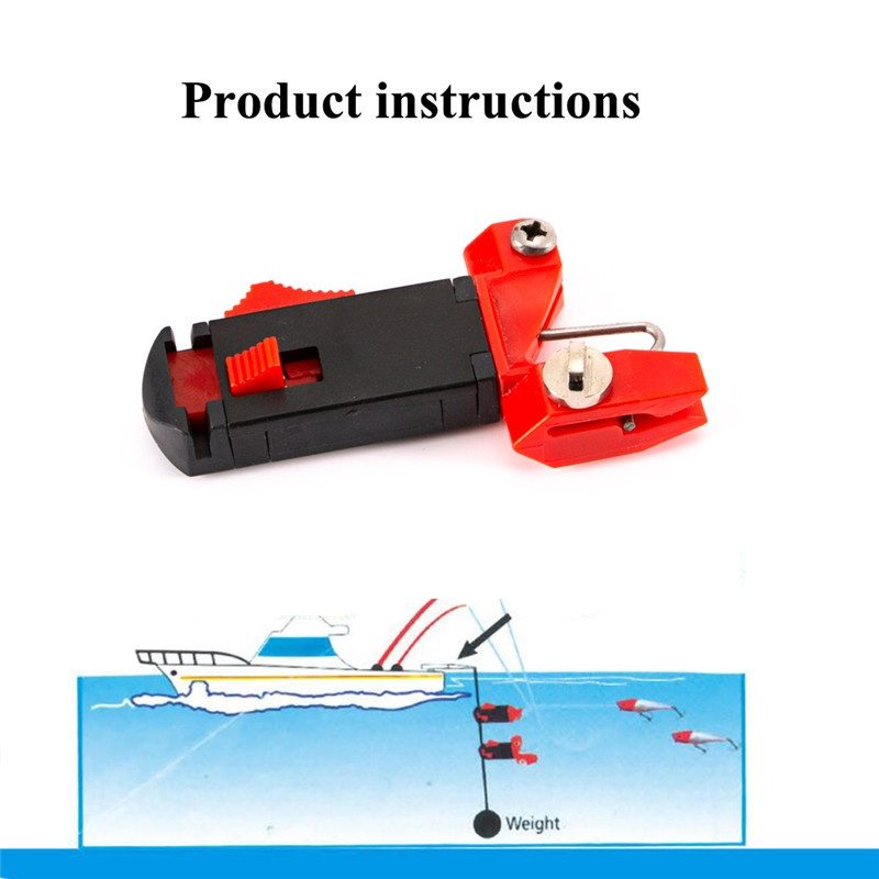 1pc Adjustable Heavy Tension Snap Release Clip For Weight, Planer Board, Kite, Outrigger Trolling Clips Outdoor Fishing Tools