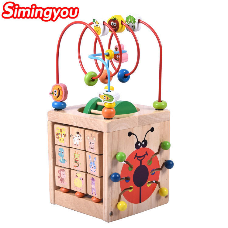 Simingyou DIY En Bois Horloge Éducation Apprentissage Jouets Puzzle Amusant Jeu Pour Enfants 3-6 Ans A50-1445 Baisse gratuite