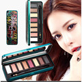 Suikone Warm Pearl 8 Colors Eyeshadow Palette Natural Earth Smokey Eye Waterproof Party Make Up Iron Box with Brush Maquiagem