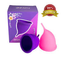 2019 New 1 set copa menstrual Reusable Menstrual Cup Vaginal Care Cup Feminine Hygiene Product Lady Cup for up to 12 Hours
