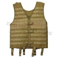 Hot Hunting Military Tactical Adjustable Molle Vest Wargame Combat Outdoor Vest CS Outdoor Airsoft Shoot Vest Desert Clothes
