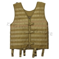 Hot Hunting Military Tactical Adjustable Molle Vest Wargame Combat Outdoor Vest CS Outdoor Airsoft Shoot Vest Desert Clothes