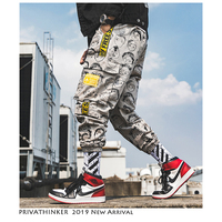 Privathinker Men Japanese Streetwear Full Print Joggers Pants 2019 Man Korean Fashion Cargo Pants Males Designer Harem Pants