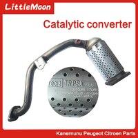 Tubo de escape do conversor catalítico de três vias adequado para peugeot 206 207 307 308 408 citroen c2 c3 c4 c quatre elyess 1731np Conversores catalíticos     -