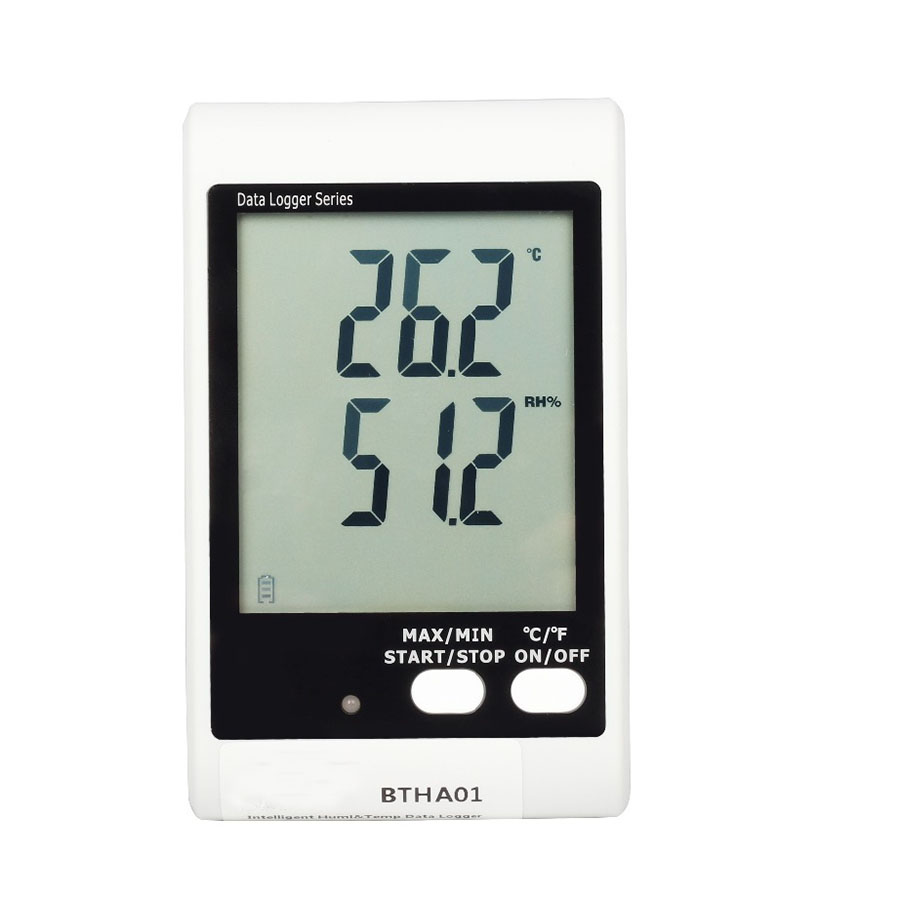 BTHA01 Big screen with sound and light alarm temperature + humidity recorder (built-in probe) free shipping and low temperature alarm 634f 220v electron temperature alarm sound and light alarm thermostats