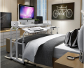 Double mesa can tilt table nursing table table. Laptop desk across the bed