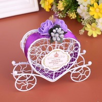 Carriage Designed Hollow Sugar Candy Box Packing Wedding Party Favour Birthday