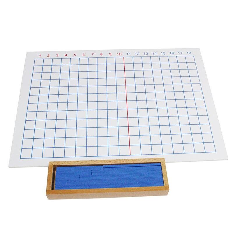 Montessori premiers outils pédagogiques mathématiques Puzzle jouet Addition et soustraction conseil bébé jouet en bois - 3
