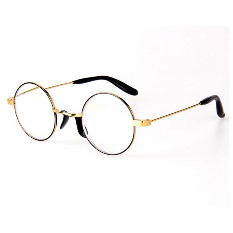 High Quality Anti Blu Ray Computer Reading Glasses Retro Round Glasses Frame Goggles Brand Designer Metal Reading Glasses