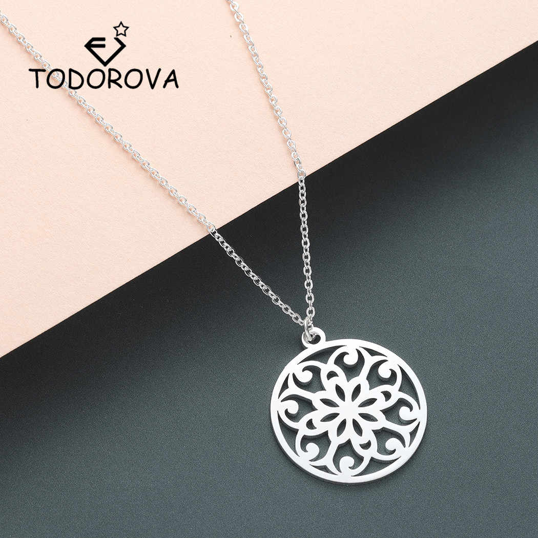 Todorova Flower of Life Men Necklace Om Yoga Buddhism Chakra Mandala Pendant Necklace Women Sacred Geometric Jewelry