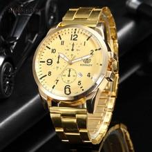 Nuevos Relojes de Marca de Lujo de Los Hombres Del Cronógrafo Relojes Deportivos Acero Lleno de Cuarzo Reloj de Los Hombres Reloj de pulsera de Cuarzo Relogio masculino