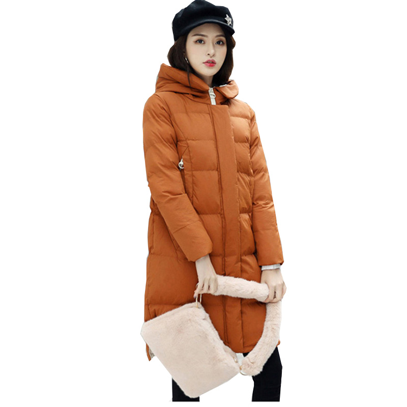 2018 New Winter Jacket women Plus Size Womens Parkas Thicken Outerwear solid hooded Long Female Cotton padded Coats ym880 2017 new fashion women long coat cotton padded clothes thicken winter female parkas lamb wool hooded drawstring jacket plus size page 1