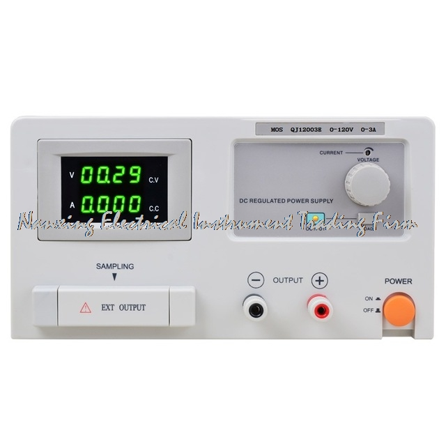 fast arrival QJ12003E DC adjustable regulator Laboratory power supply 0-120V 0-3A transformer resolution of 100mV 1mA fast arrival qj12003e dc adjustable regulator laboratory power supply 0 120v 0 3a transformer resolution of 100mv 1ma