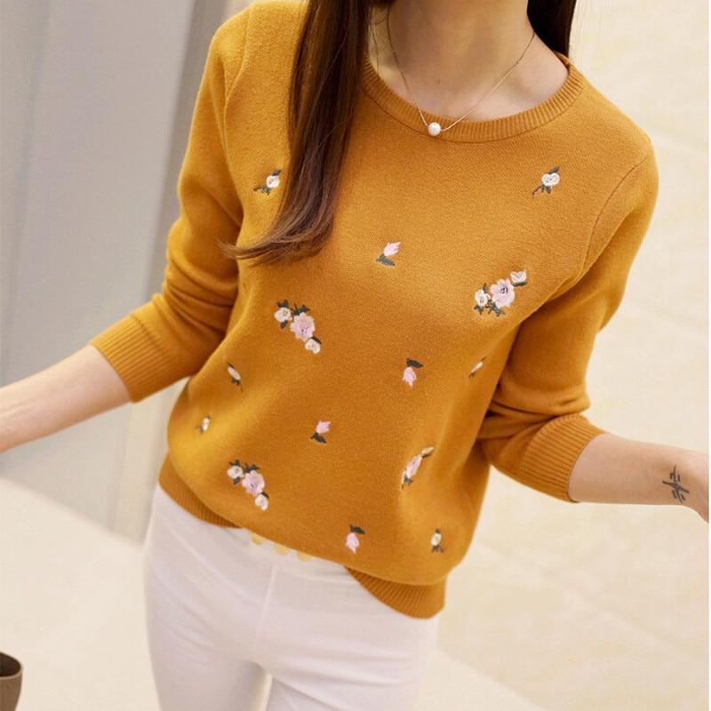 20167 Hitz Jacquard love beaded doll shirt collar fake two piece long sleeved knit sweater head
