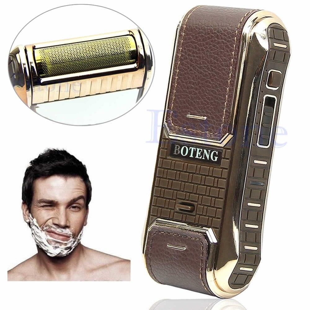 Newest Professional Electric Razor Men's Cordless Shaver Built-in Mirror