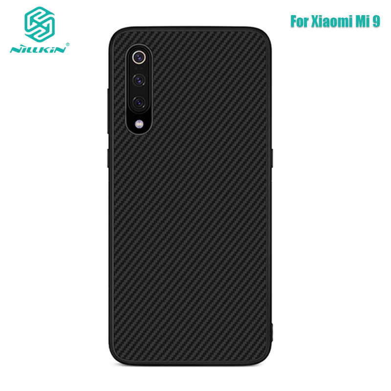 For Xiaomi Mi9 Case Nillkin Synthetic fiber Carbon PP Plastic Back Case for Xiaomi Mi 9 Mi9 M9 Cover 6.39''