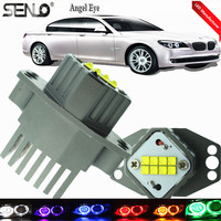 No Error E90 Angel Eye High Powerful 40 Watt Lamp For BMW LED Angel Eyes Replacement For BMW E90 E92 F30 LED Marker USA C REE