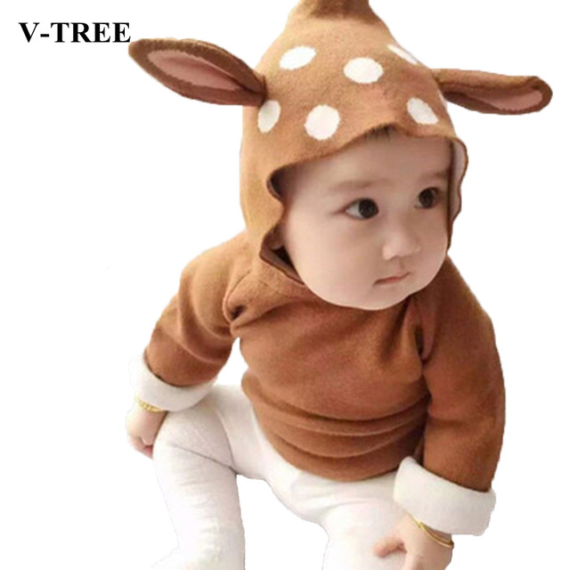 Autumn And Winter Baby  Coat Baby Knit Cardigan Kids Hooded Sweater Coat Hooded For Baby Sweater Christmas Pullover Newborn Coat