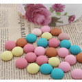 50pcs/lot Round Fabric Covered Flat Back Button Bead for Jewelry accessories/Headwear