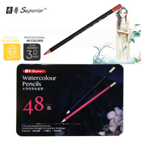 Superior 48 Colors Watercolor Drawing Pencils Set Non Toxic Color Pencil Set Lapices De For Write