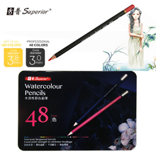 Superior 48 colors Watercolor Drawing pencils set Non-toxic Color pencil set lapices de For Write Drawing Art supplies
