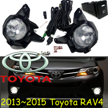 car-styling,RAV4 fog lamp,2013~2015,Halogen,2pcs/set+wire ON/FF,RAV4 headlight,steering-wheel,RAV4 front light;RAV 4,RAV4