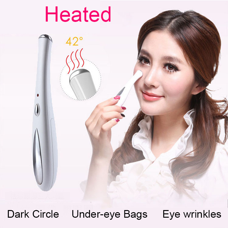Ultrasound Therapy Fomentation Remove Wrinkles Under-eye Bags Fast Fade dark circles Eye Care Beauty Eye Massager Device 1 pcs remove wrinkles dark circles massage tens machine beauty tens face and eye massager health care massagers