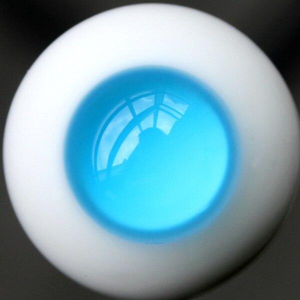 [wamami] EW26# 8mm Blue No Pupil Eyes For BJD Doll Dollfie Glass Eyes