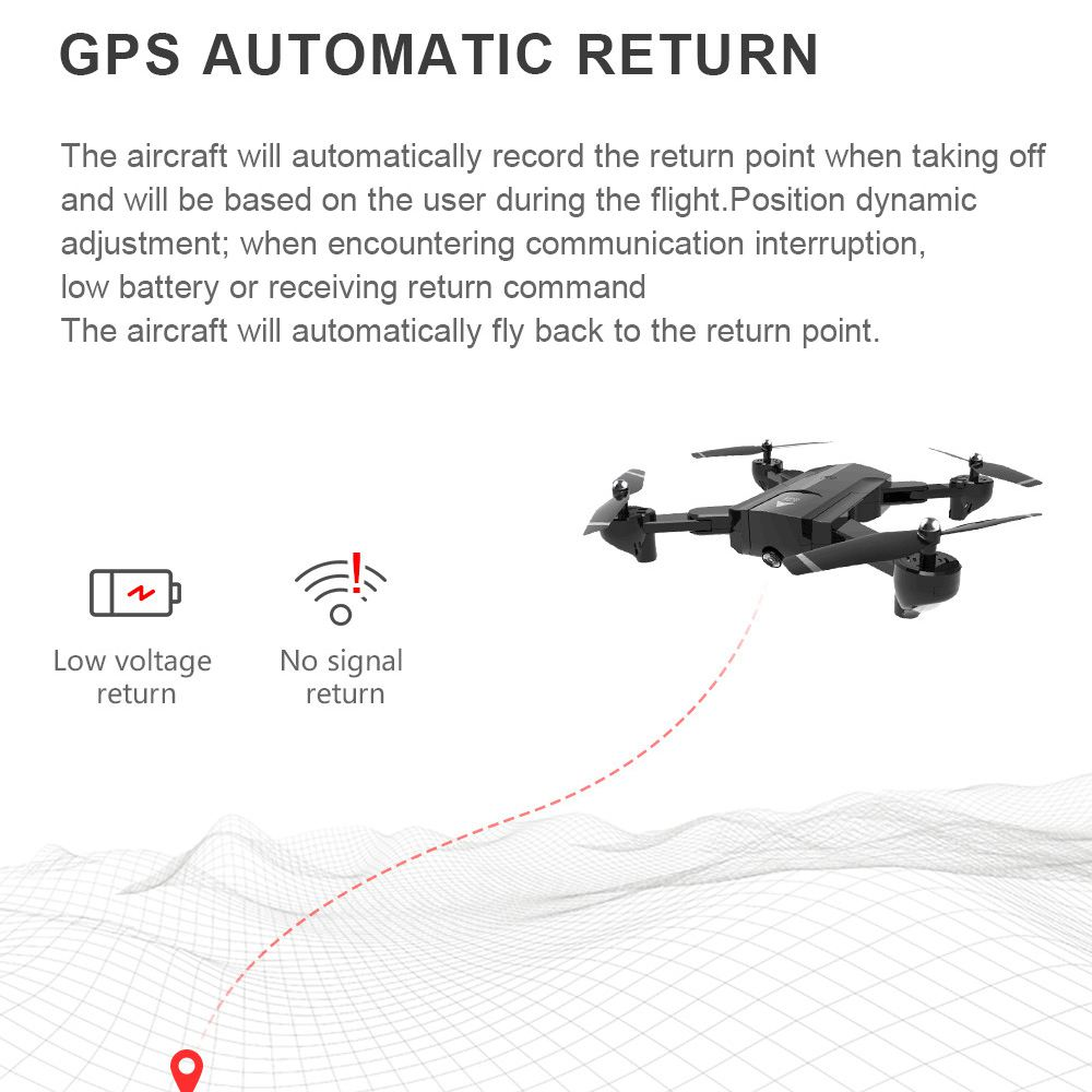 SG900-S Foldable Quadcopter 2.4GHz HD Drone Quadcopter WIFI FPV Drones GPS Fixed Point Rc Helicopter Drone With Camera original gdu o2 drones fpv foldable quadcopter with 4k hd camera gps