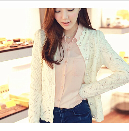 women sweater cardigan 2017 new Autumn collar Long Sleeved O-Neck Solid Thin Women Clothing,,T3206 ...